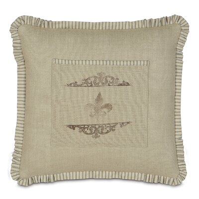 French Country Coffee Fleur de Lis Throw Pillow