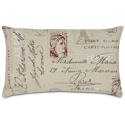 French Country Vintage Postcard Lumbar Pillow