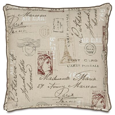 French Country Postage Stamp Throw Pillow
