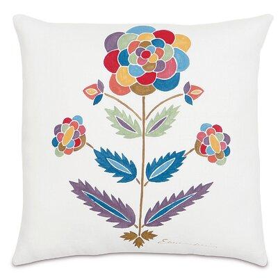 Folkloric Whimsical Flower Throw Pillow