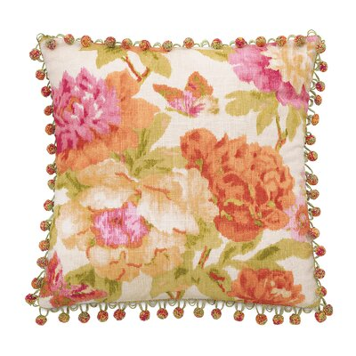 Caroline Azalea Throw Pillow