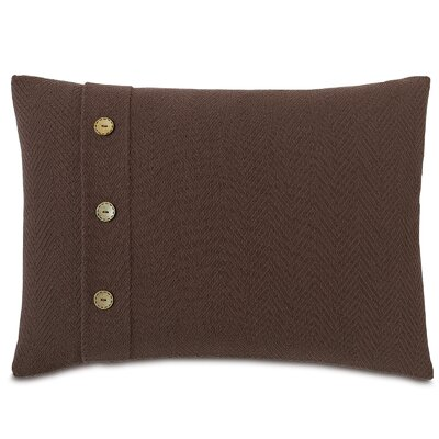 Chalet Bozeman with Buttons Lumbar Pillow Color: Brown