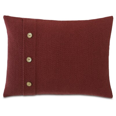 Chalet Bozeman Pillow with Buttons Color: Russet