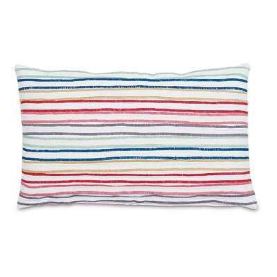 Folkloric Pleated Rainbow Lumbar Pillow