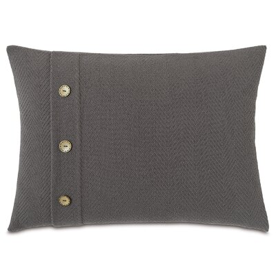 Chalet Bozeman with Buttons Lumbar Pillow Color: Charcoal