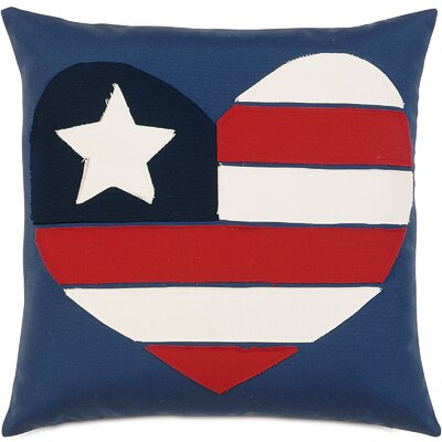 Americana I Love the USA Outdoor Throw Pillow