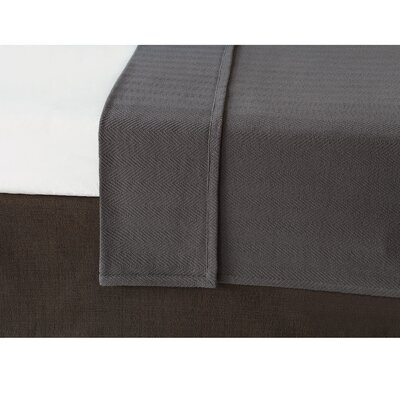 Chalet Bozeman Coverlet Size: Twin, Color: Charcoal