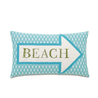 Maldive Beach Block Printed Lumbar Pillow