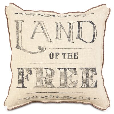 Americana Land of the Free Throw Pillow