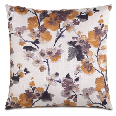Garden Flora Amber Throw Pillow