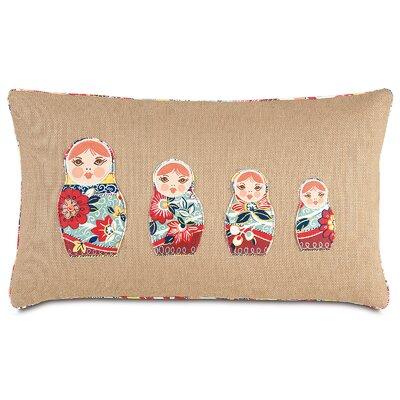Folkloric Matryoshka Lumbar Pillow