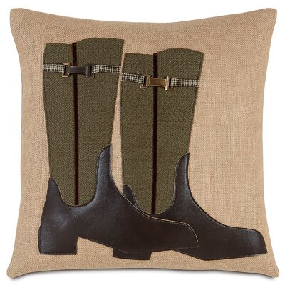 Equestrian Riding Boots Throw Pillow