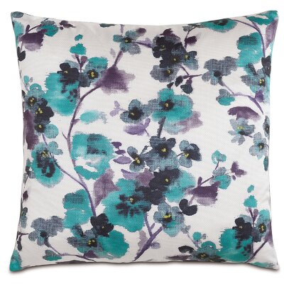 Garden Flora Ink Throw Pillow