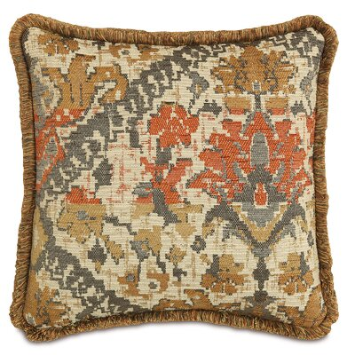 Chalet Douglas with Brush Fringe Throw Pillow Color: Camel