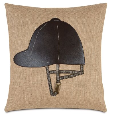 Equestrian Riding Helmet Throw Pillow