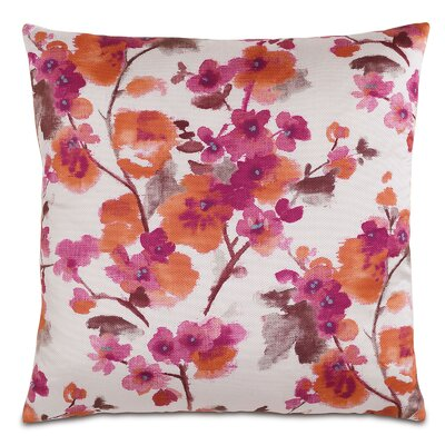 Garden Flora Sunset Throw Pillow