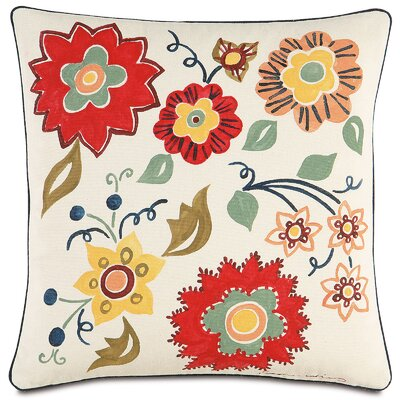 Folkloric Floating Flora Throw Pillow