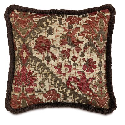 Chalet Douglas with Brush Fringe Throw Pillow Color: Paprika