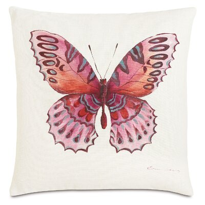 Garden Fauna Fuchsia Throw Pillow