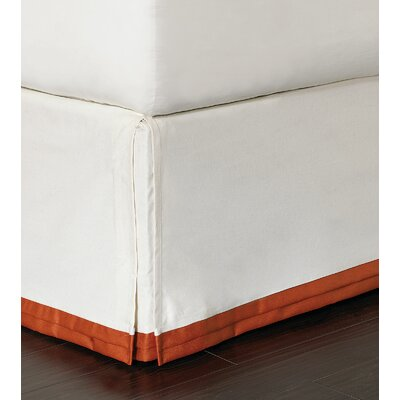 Indira Dean Parchment Bed Skirt Size: Twin