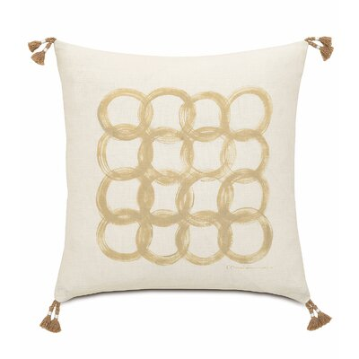 Silas Hand Painted Motif Linen Throw Pillow