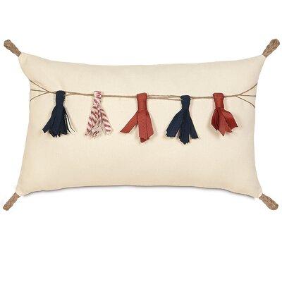 Americana Tassel Tinsel Lumbar Pillow
