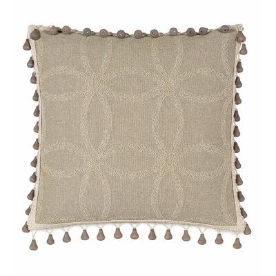 Silas Beaded Trim Linen Throw Pillow