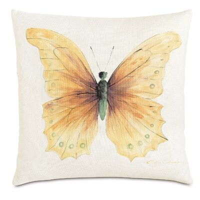 Garden Fauna Amber Throw Pillow