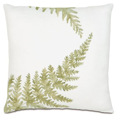 Garden Fern Sprigs Throw Pillow