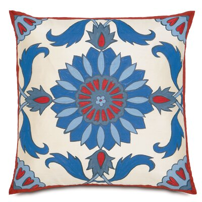 Folkloric Islamic Tile Work Throw Pillow