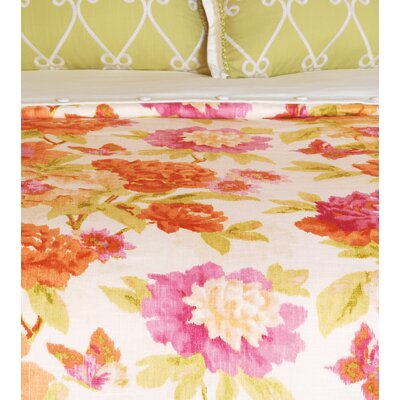 Caroline Azalea Comforter Size: Super Queen, Finish Type: Hand-Tacked