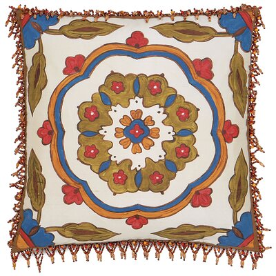 Folkloric Moroccan Bloom Throw Pillow