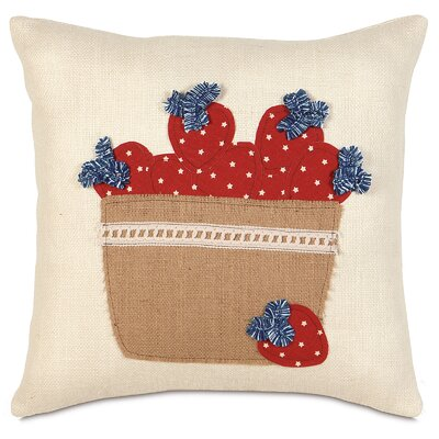 Americana Berry Basket Throw Pillow