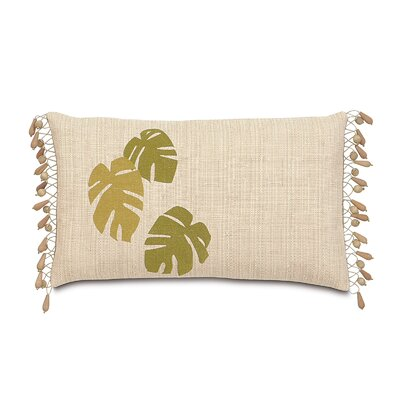 Tropical Banana Leaves Lumbar Pillow