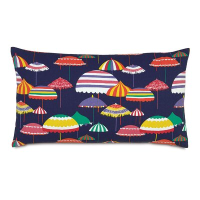 Tropical Parasol City Lumbar Pillow