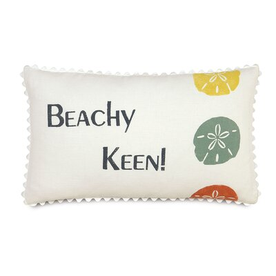 Tropical Beachy Keen Linen Lumbar Pillow