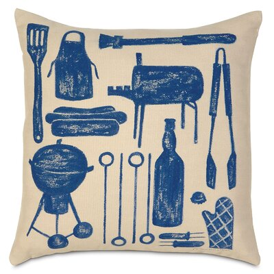 Americana BBQ Indoor/Outdoor Throw Pillow