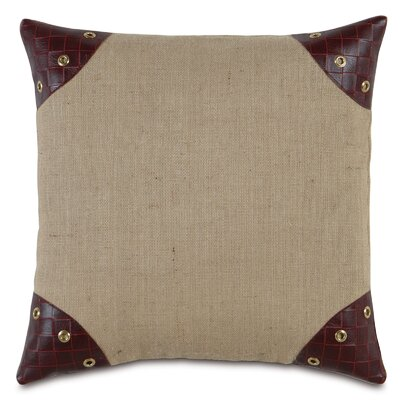 Passport Faux Leather Throw Pillow Color: Brown