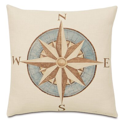 Nautical Captains Compass Indoor Throw Pillow