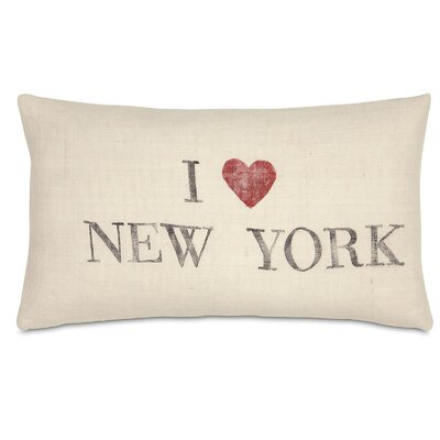 Passport I Love New York Lumbar Pillow