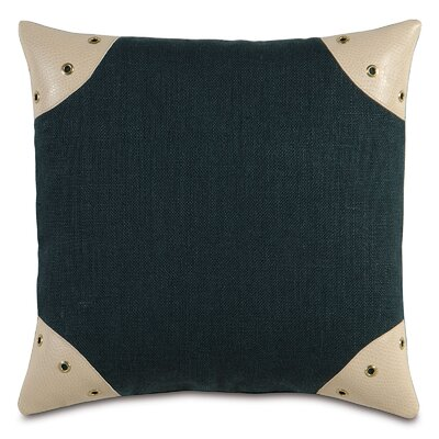 Passport Faux Leather Throw Pillow Color: Black