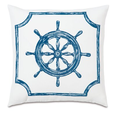 Outdoor Captains Wheel Throw Pillow