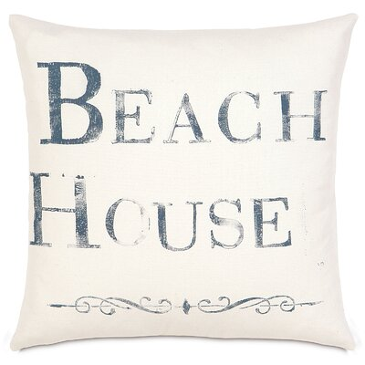 Nautical Beach House Throw Pillow
