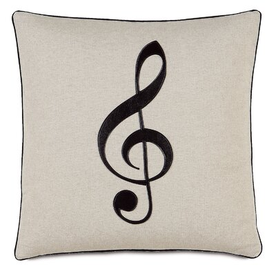 Music Treble Clef Throw Pillow