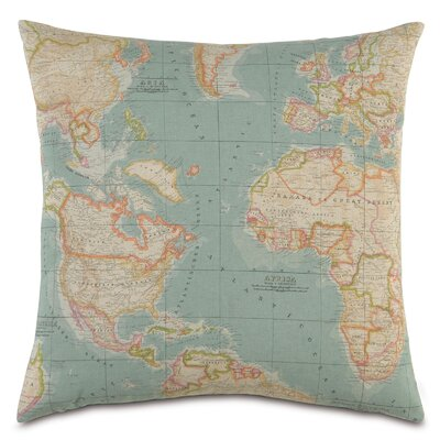 Passport Round the World Throw Pillow