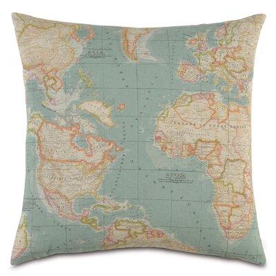 Passport Round the World Throw Pillow