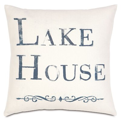 Nautical Lake House Throw Pillow