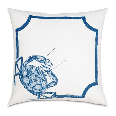 Outdoor Blue Crab Throw Pillow