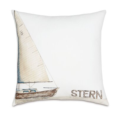 Outdoor Ship Stern Throw Pillow