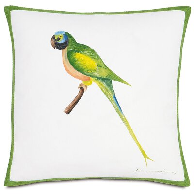 Outdoor Green Parrot Throw Pillow